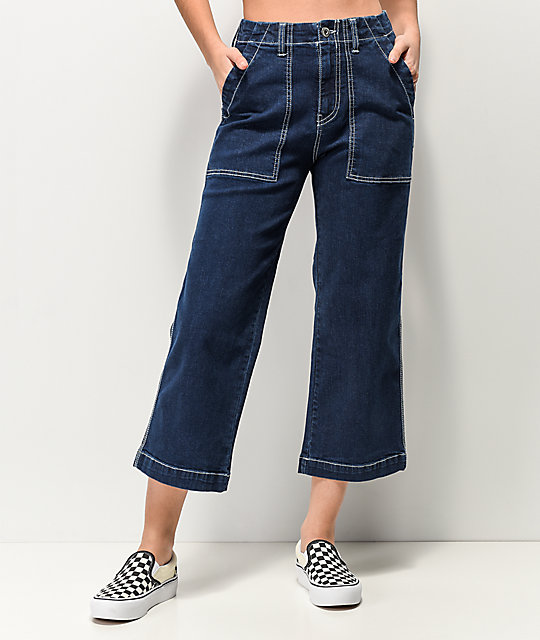 Unionbay Donni Wide Leg High Rise Crop Jeans