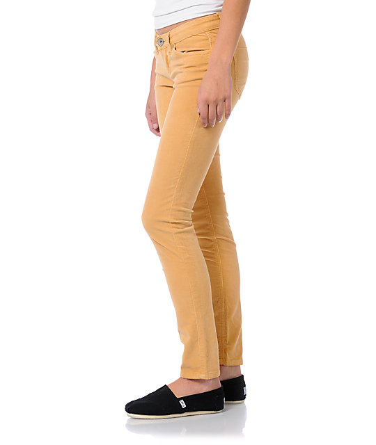 Unionbay Lucille Mustard Corduroy Skinny Pants