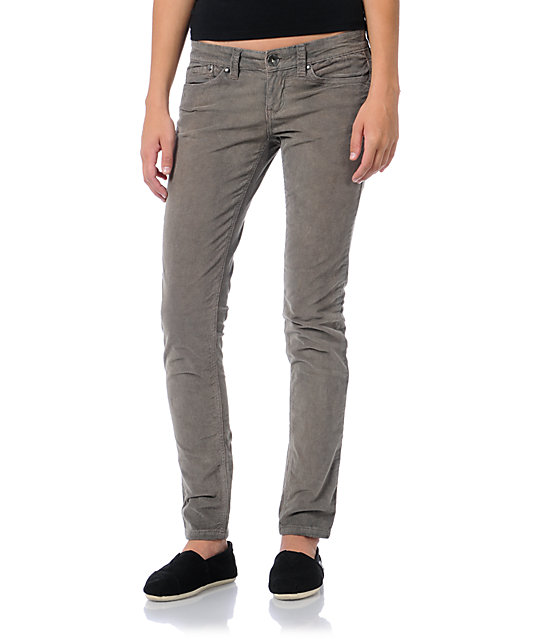 Unionbay Lucille Pewter Grey Corduroy Skinny Pants