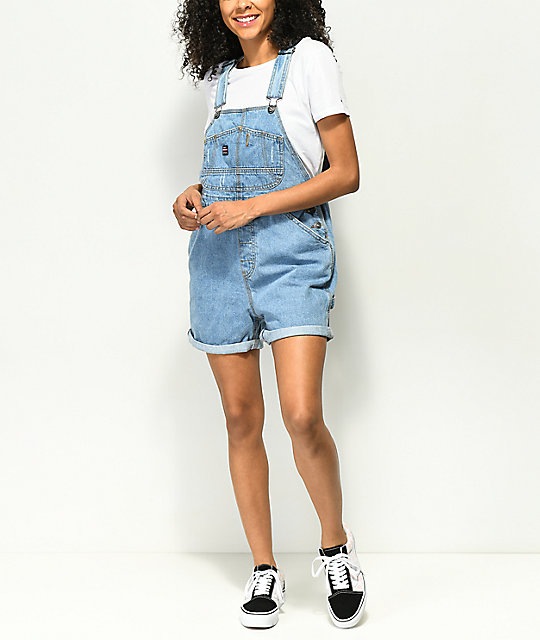 Unionbay Mario Medium Wash Denim Overall Shorts