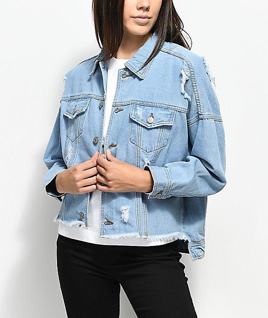 Unionbay Vintage Distressed Denim Jacket