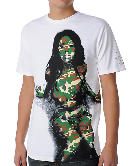 Upper Playground Camo White T-Shirt