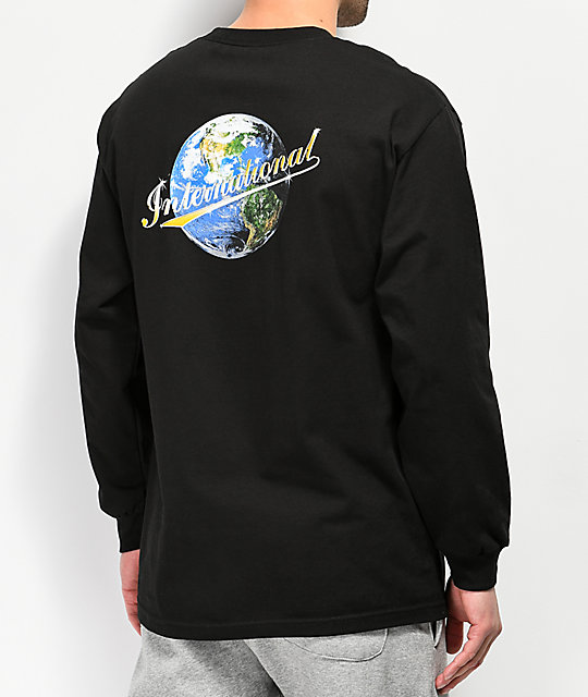 Utmost International Black Long Sleeve T-Shirt