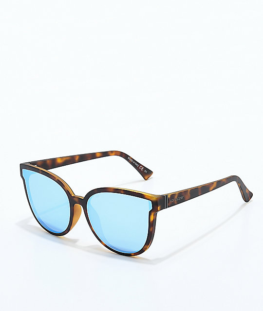 VONZIPPER Fairchild Tort Satin Sky Chrome Sunglasses