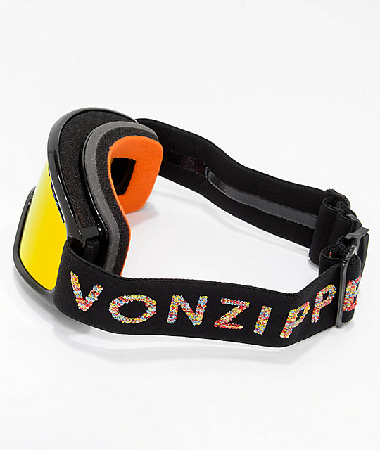 VONZIPPER Youth Trike Black Satin Fire Chrome Snowboard Goggles