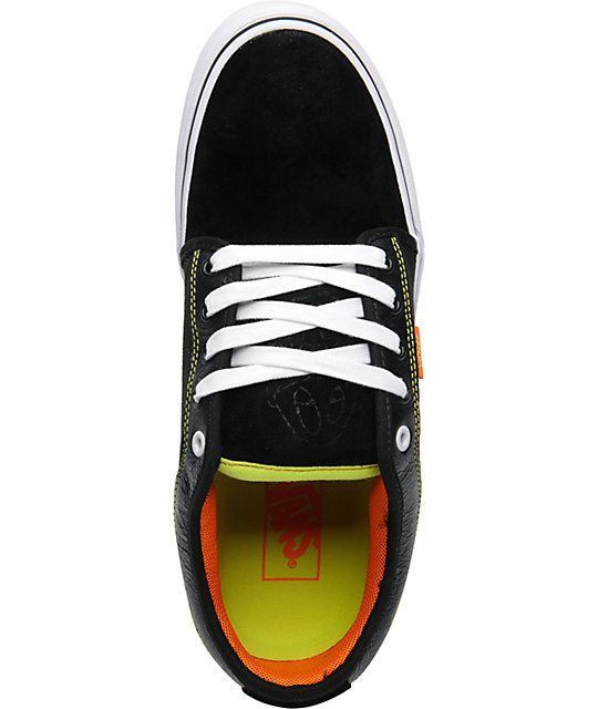 Vans & Celtek Chukka Low Black, Orange, & Green Skate Shoes