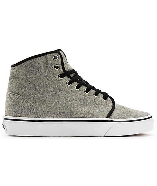 Vans 106 Hi Wool Grey Skate Shoes