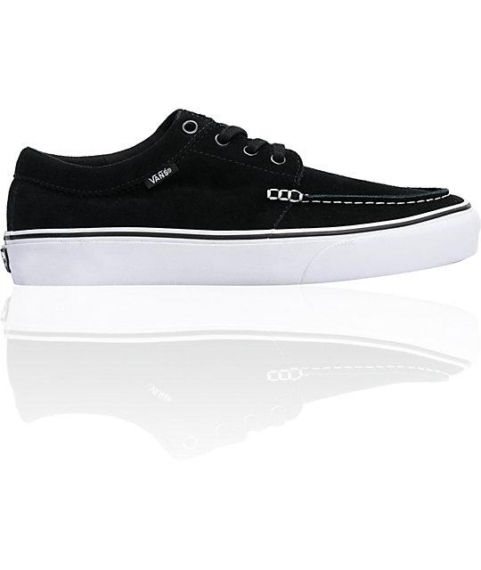 Vans 106 Moc Black Suede   White Skate Shoes  448344d7e