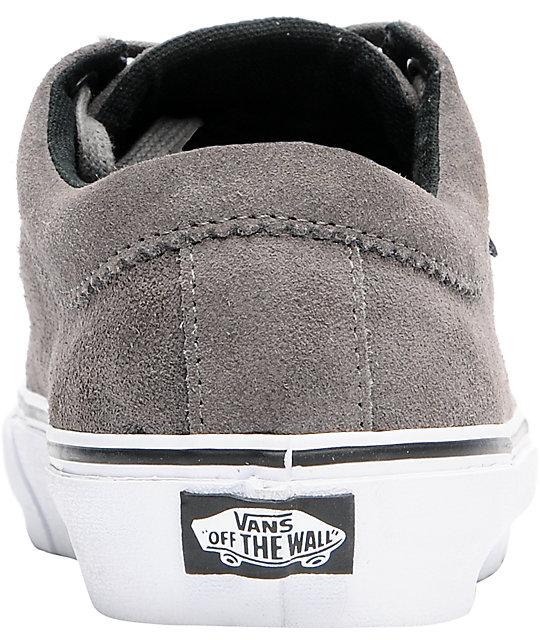 c5fb93dde0 ... Vans 106 Moc Pewter Suede   White Skate Shoes ...