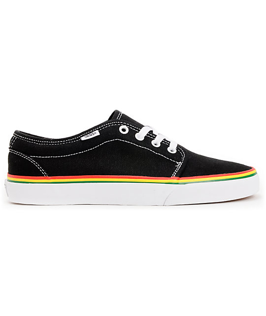 e0c2a6e7c21 ... Vans 106 Vulc Black   Rasta Hemp Skate Shoes