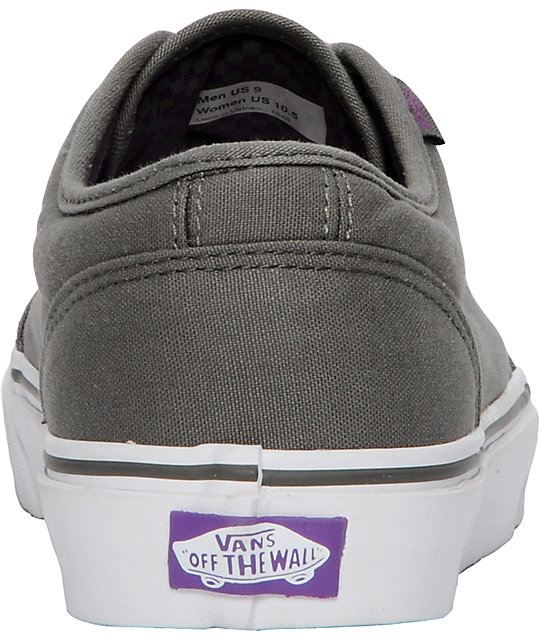 Vans 106 Vulcanized Grey & Purple Skate Shoes