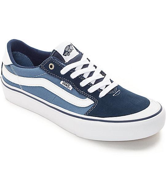 7c697d642a68b6 Vans 112 Pro Navy   White Skate Shoes