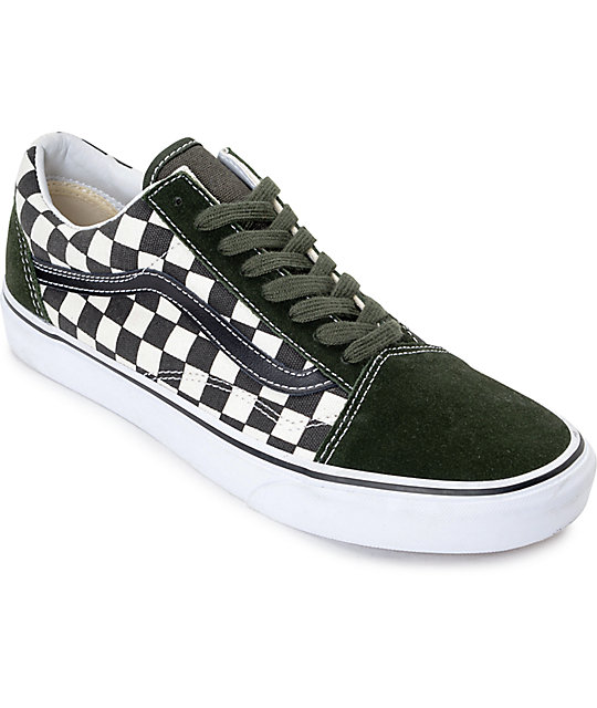 f300072f6d7 Vans 50th Anniversary Old Skool Checkered Black Rosin Skate Shoes ...