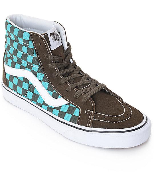717030dd9e Vans 50th Sk8-Hi Reissue Pro Ceramic Checkerboard Skate Shoes