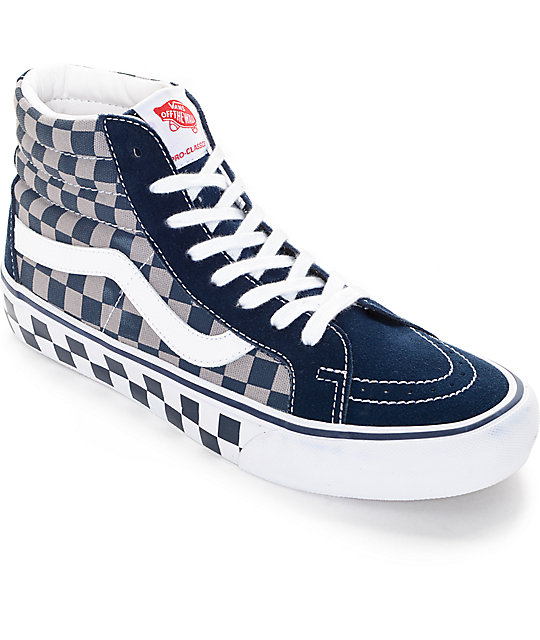 4f47dc07cc Vans 50th Sk8-Hi Reissue Pro Checkerboard Skate Shoes