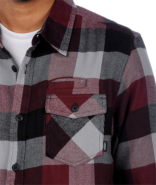 Vans AV Box Burgundy Flannel Shirt