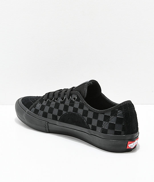 Vans AV Classic Pro Hairy Suede Black Skate Shoes