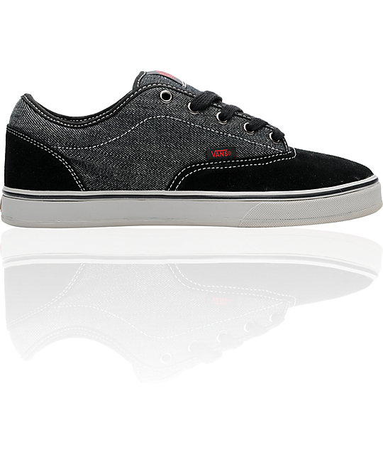 Vans AV Era 1.5 Black, Grey & Denim Skate Shoes