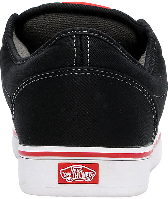 Vans AV Era 1.5 Black & Scarlet Skate Shoes