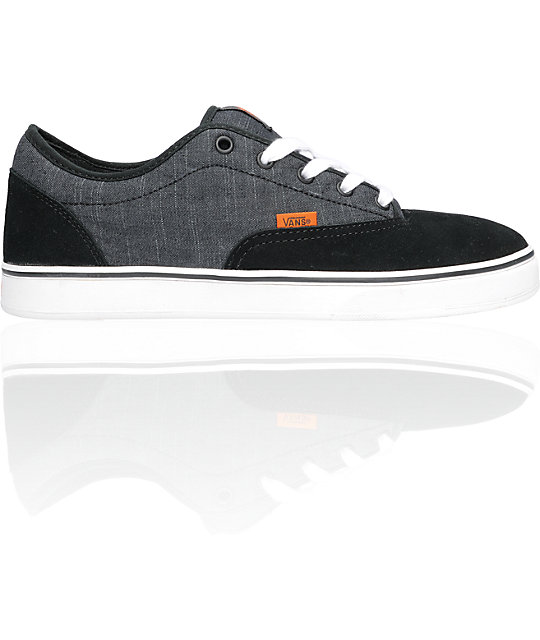 Vans AV Era 1.5 Black & White Chambray Skate Shoes