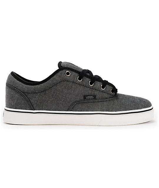 8e2a3ba1a4 ... Vans AV Era 1.5 Chambray Black Skate Shoes