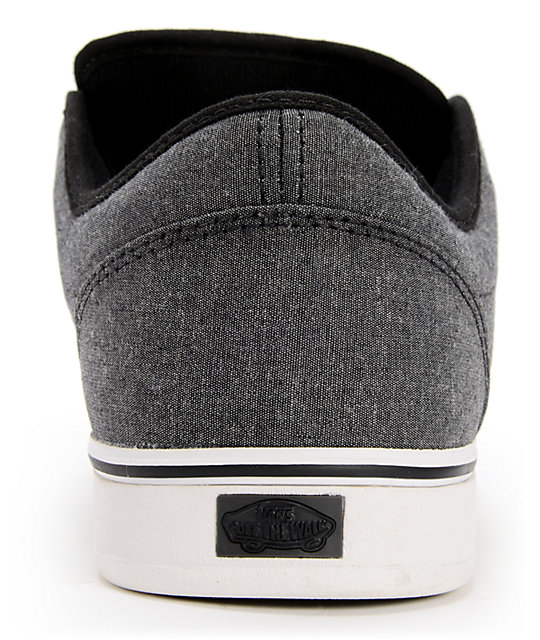 e957128538 ... Vans AV Era 1.5 Chambray Black Skate Shoes ...