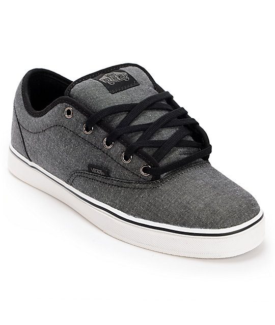 a9d7050b59 Vans AV Era 1.5 Chambray Black Skate Shoes