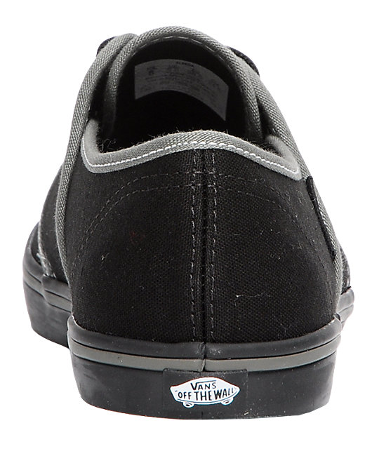 Vans Aleeda Black & Grey Canvas Shoes