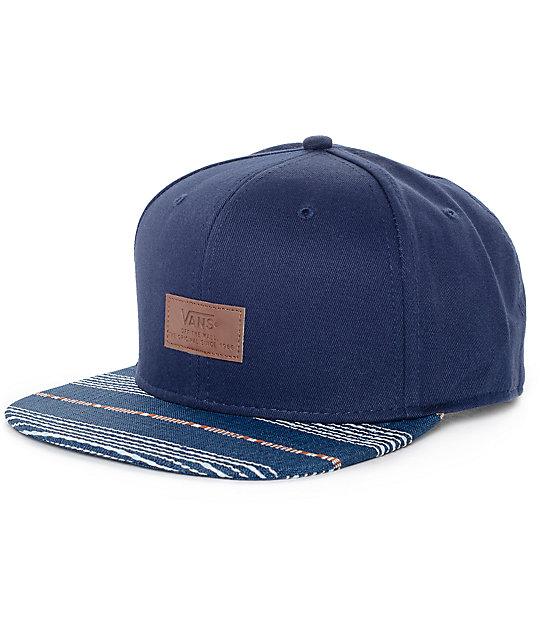 c3f04b94cf9 Vans All Over It Blue Snapback Hat