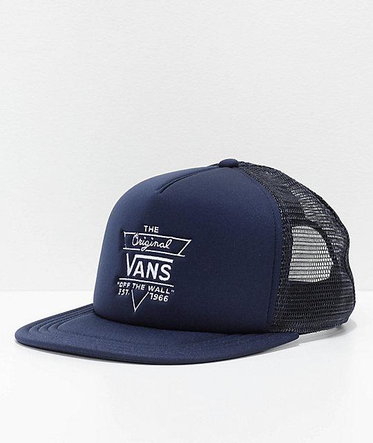 e87b326e Vans Allendale Dress Blue Trucker Hat