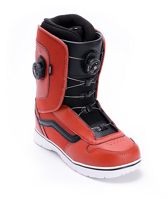 76683cd2ed Vans Aura Red Double BOA Snowboard Boots