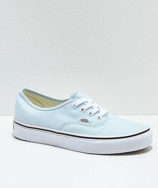 Vans Authentic Baby Blue & True White Skate Shoes ...