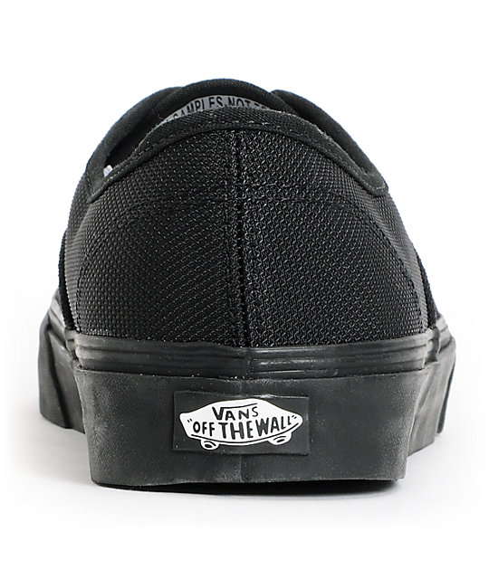 Vans Authentic Ballistic Black Skate Shoes