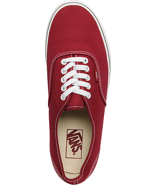 Vans Authentic Biking Red & True White Skate Shoes