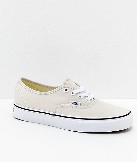5ea438a505 Vans Authentic Birch   White Skate Shoes