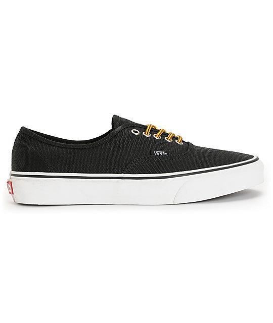 900a81c8ef0c ... Vans Authentic Black   Marsh Waxed Canvas Skate Shoes
