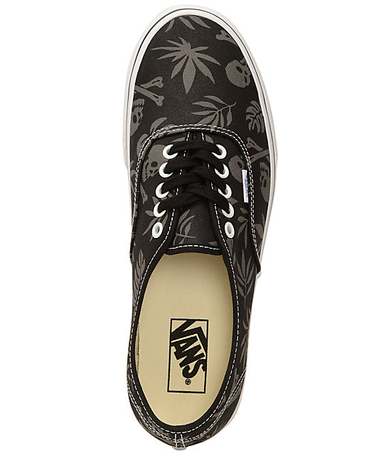 Vans Authentic Black Aloha Skate Shoes
