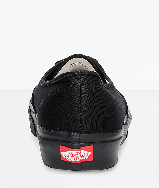 2c80ea848b ... Vans Authentic Black Canvas Skate Shoes ...