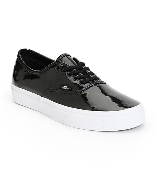 2082c21fe3f3 Vans Authentic Black Patent Leather Shoes
