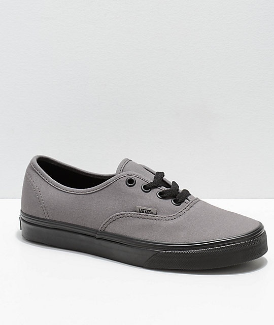 47d2eb45bf9 Vans Authentic Black Pewter Canvas Skate Shoes