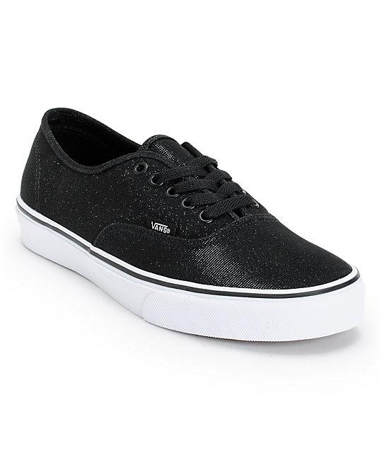 Vans Authentic Black Shimmer Shoes ...
