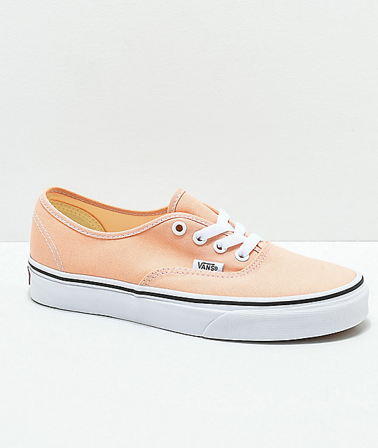 279c3357c9 Vans Authentic Bleach Apricot   White Skate Shoes