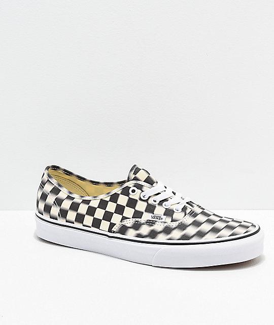 vans authentic black checkerboard off