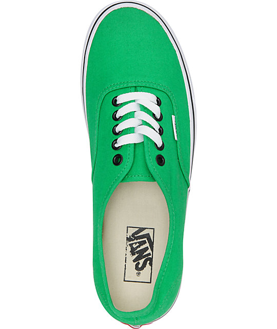 Vans Authentic Bright Green Skate Shoes