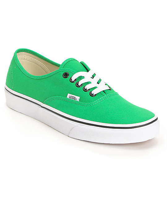 vans shoes green