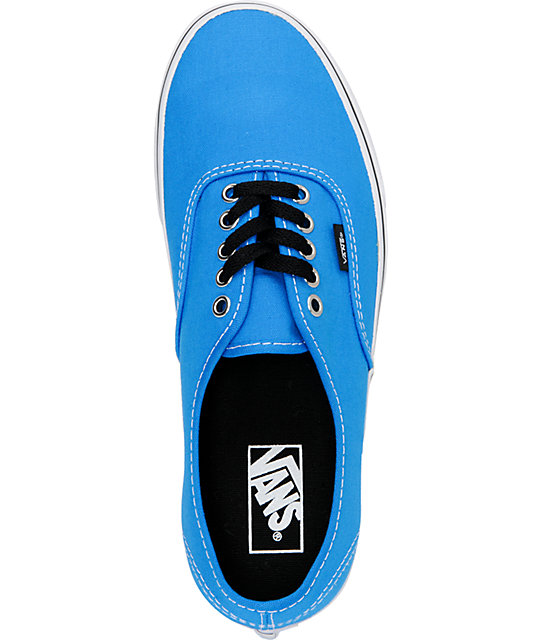 Vans Authentic Brilliant Blue & True White Skate Shoes