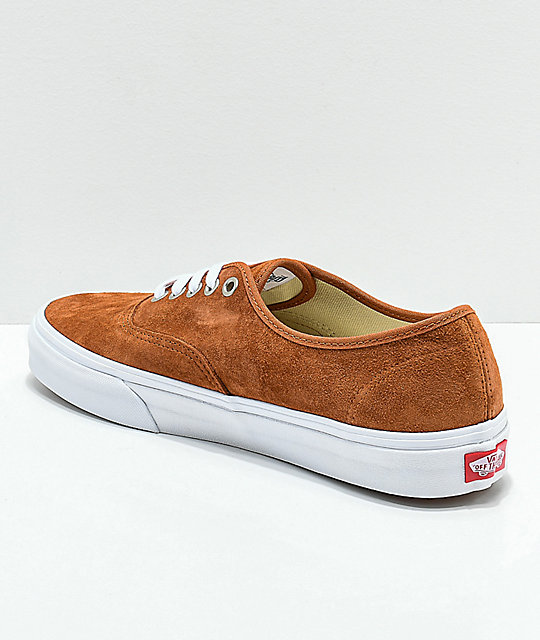 226d15eadae ... Vans Authentic Brown Pig Suede Skate Shoes ...