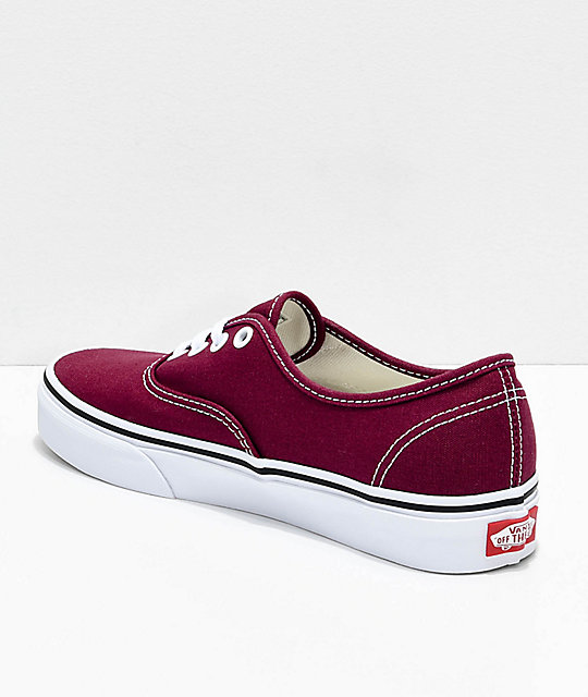 burgundy vans shoes
