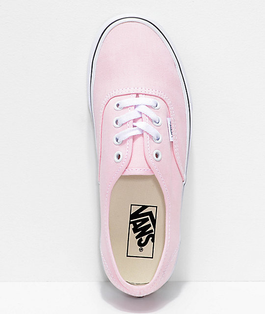 fe42a39f9d ... Vans Authentic Chalk Pink   True White Shoes ...