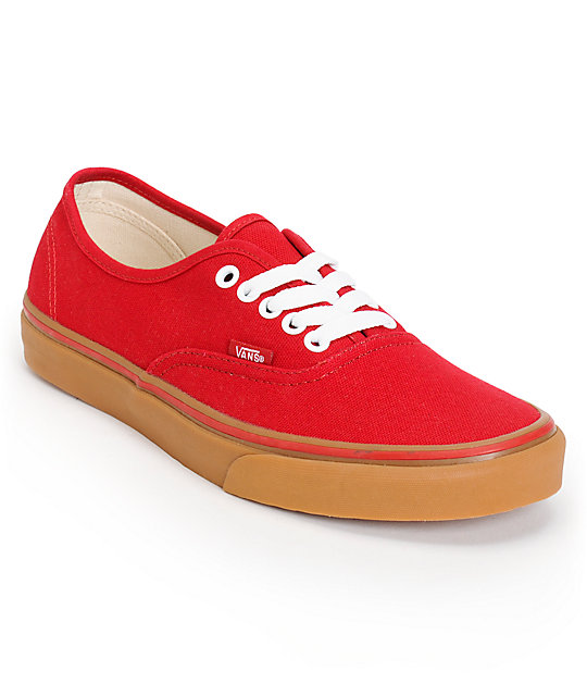 db03bac7ff1190 Vans Authentic Chilli Pepper   Gum Skate Shoes